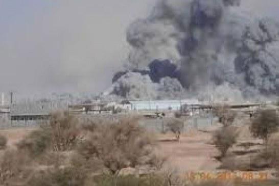 مارب : غارات مكثفة لطيران العدوان السعودي الأمريكي على مناطق متفرقة في صرواح.