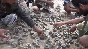 بالصور: الجيش واللجان الشعبية يبدأون بنزع الاغام من القرى والمناطق التي تمت السيطرة عليها داخل السعودية((تفاصيل))