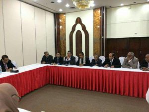 إسماعيل ولد الشيخ يلتقي في صنعاء بممثلي كافة المكونات السياسية الموقعة على اتفاق السلم والشراكة والمشاركة في مؤتمر الحوار(تفاصيل + صور)