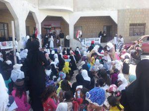 مدارس محافظة تعز تنظم وقفات احتجاجية تنديداً باستمرار العدوان والحصار