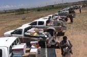أبناء قبيلة بني مطر يقدمون قافلة غذائية دعما للجيش واللجان الشعبية