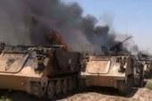 اعطاب الية عسكرية في عسير واستهدف تجمعات للجنود السعوديين في موقع المنتزه بجيزان