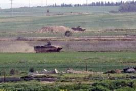 توغل جرافات عسكرية صهيونية لمسافة خمسين متراً شرق رفح