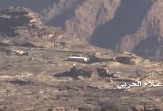 شاهد : استهداف مواقع وتحصينات العدو السعودي شرقي الربوعة بعسير