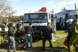 مقتل6 من جنود الاحتلال وإصابة 15 آخرين في عملية دهس بشاحنة في القدس