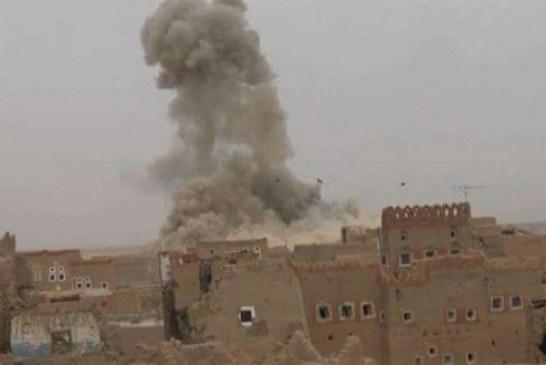 طيران العدوان  السعودي الأمريكي يواصل استهداف المواطنين بمختلف المحافظات