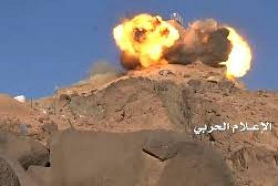 جبهة ماوراء الحدود .. إحراق مخزن أسلحة ودك عدد من مواقع العدو السعودي