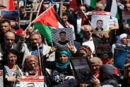 مسيرات وفعاليات شعبية فلسطينية تضامناً مع الأسرى المضربين عن الطعام