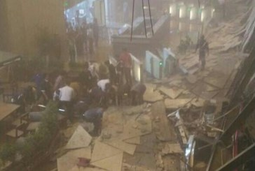 مشهد مروع للحظة انهيار مبنى للبورصة الإندونيسية!