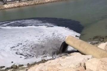 بالفيديو: مادة سوداء تلوّث بحر القطيف